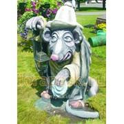 Фигура садово-парковая мышь из сказки дюймовочка фото