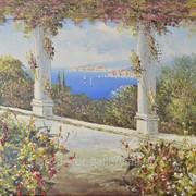 "Картина ""Средиземноморский пейзаж"" фото"
