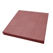Тротуарная плитка Паркет 300x300 мм красная фото