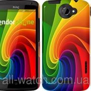 """Чехол на HTC One X+ Радужный вихрь """"747c-69"""" фото"""