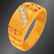 Кольцо золотое с бриллиантами фото