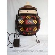 ТАНДЫР модель №3 (дизайн украинский-коричневый) фото