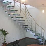 Лестница из стекла для дома фото