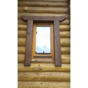 Окно деревянное из дуба фото