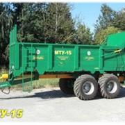 Машина для внесения твердых органических удобрений МТУ-15 фото