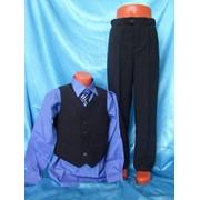 Жилет и брюки из шерсти, черного цвета фото