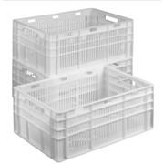 Ящик пластмассовый 600х400х260 перфорированный фото