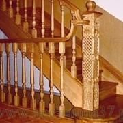 Деревянные лестницы из дуба фото