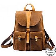 """Кожаный рюкзак """"Римини"""" шоколадный фото"""