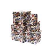 Коробка картонная цветная ККЦ №2 (5шт) кубические(22/22/22см-9/9/9см) фото