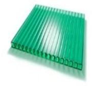 Поликарбонат сотовый 12000х2100х8 зеленый фото