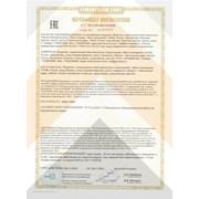 Получен сертификат соответствия  фотография