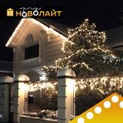 Освещение фасадов светодиодными гирляндами фотография