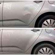 Удаление вмятин на двери авто без покраски в СПб фотография