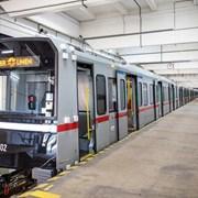 Вторичная переработка поезда метро фотография