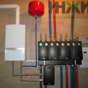 Завершен монтаж отопления дома 329 м.кв. фотография