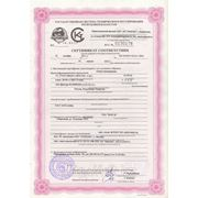 Сертификат на опоры неподвижные
