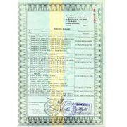Сертификат соответствия на столы и стулья