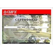 Сертификат оффициального представителя в России рукавов высокого давления ТМ «СВАРОГ»