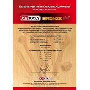 Сертификат на искробезопасный инструмент из бронзы