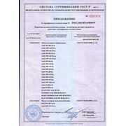 Приложение к сертификату для масел моторных ENEOS лист 2