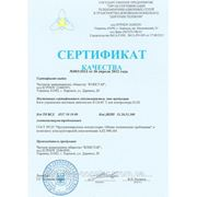 Сертификат на блок управления шаговым двигателем К124-01 Т для контроллера К120