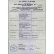Сертификат СЦЛ-00А приложение