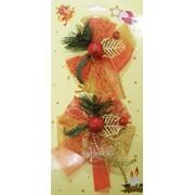 Бант текстильный рождественский GIF1680, 2 шт/уп фото