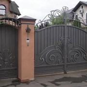 Ворота кованые фото