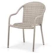 Плетеное кресло AFM-318G-Light Grey фото