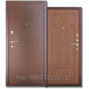 Дверь металлическая МД-03 темный орех(антик-медь) фото