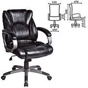 """Кресло для руководителя Brabix """"Eldorado EX-504"""", экокожа, черное фото"""