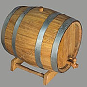 Бочка дубовая 30 литров КЭ на подставке с краном фото