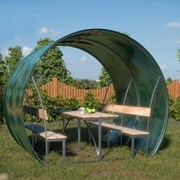 Беседка садовая Пион 3 м, поликарбонат 4 мм, цветной + мангал в подарок фото