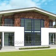 Проект двухэтажного четырехкомнатного дома Флод, 157,7 кв.м. фото