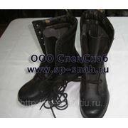 Ботинки хромовые с высокими берцами фото