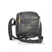 Мужская сумка 014 Black кожа фото