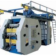 Флексографическая машина 6-ти красочная ФДР-850/6 Киевфлекс с центральным печатным цилиндром для нанесения многокрасочного изображения на рулонный материал шириной до 840 мм. фото