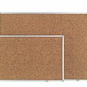 Доска клейкая информационная Post-it , 90*120 см, коричневая пробка, алюминиевая рамка фото
