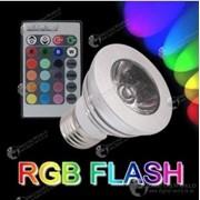 16-ти цветная LED лампочка освещения мощностью 3Вт с пультом дистанционного управления фото