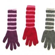 Перчатки длинные полосатые R-098 фото