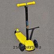 Самокат трехколесный Ateox с телескопическим рулем желтый фото