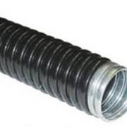 Металлорукав изолированный черный фото