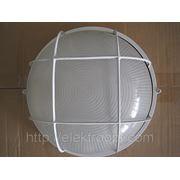 1102 Светильник НПП круг с/р 1х100Вт белый ASD (НПБ-1003) фото