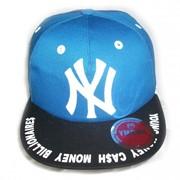 Кепка рэперская с прямым козырьком New York синяя фото
