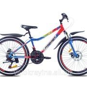 Подростковый горный велосипед Premier Dragon 24 Disc 13 2016 синий с красным фото