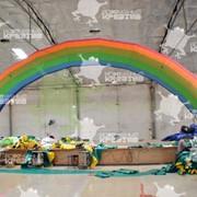 Надувная арка Радуга размер 12,0 м х 6,0 м фото