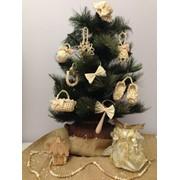 Набор новогодних игрушек для ёлки - этноигрушки плетеные из соломы (новорічні іграшки, етноіграшка, ялинка, декор) фото