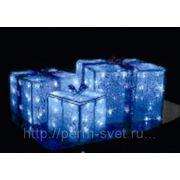 Светодиодная подарочная коробка 3D 32*30*20 см 50 светодиодов IP 65 белый свет 220V фото