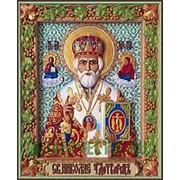 Резные иконы Николай Чудотворец, святитель, икона, резьба по дереву Высота иконы 32 см фото